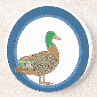 Mallard Duck Beverage Coasters