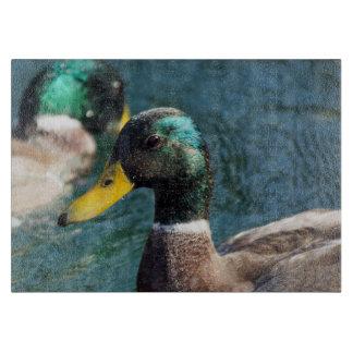 Mallard Duck Decorative Glass Cutting Board