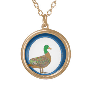 Mallard Duck Gold Plated Necklace
