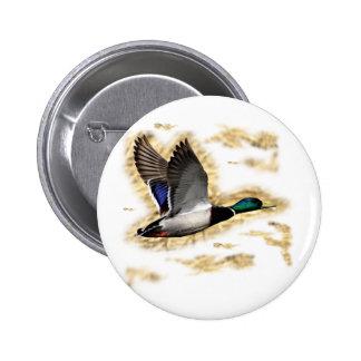 Mallard Duck Hunting 6 Cm Round Badge