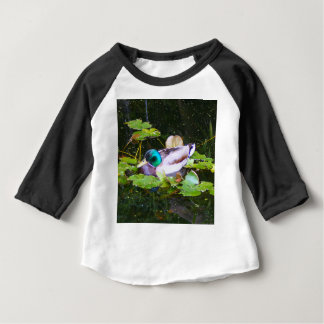 Mallard duck in a pond baby T-Shirt