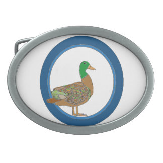 Mallard Duck Oval Belt Buckles