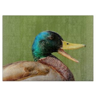 mallard duck portrait cutting board