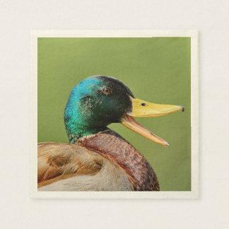 mallard duck portrait disposable napkins