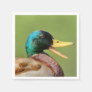 mallard duck portrait paper serviettes
