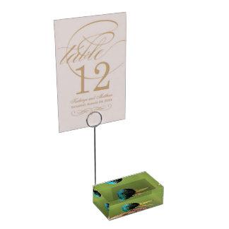 mallard duck portrait table number holder