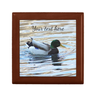 Mallard duck small square gift box