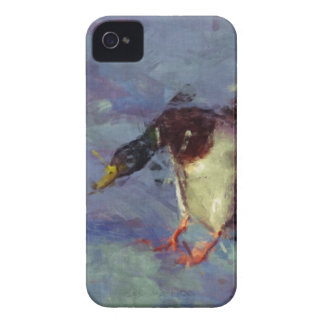 Mallard Duck Water Fowl Impressionist Painting iPhone 4 Cases