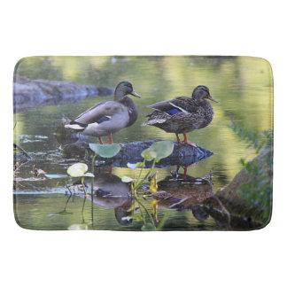 Mallard ducks bath mat