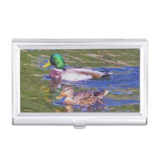 Mallard Ducks Business Card Holder