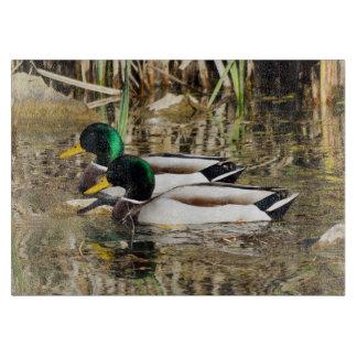 Mallard Ducks Decorative Glass Cutting Board
