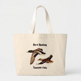 Mallard Ducks Flying Jumbo Tote Bag