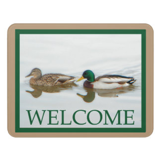 Mallard Ducks - Welcome Door Sign