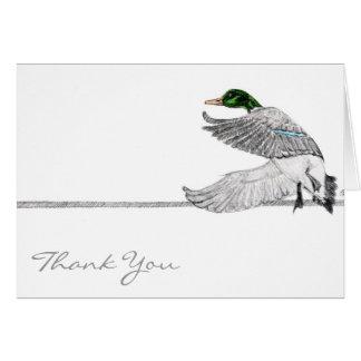 Mallard thank you card