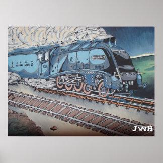 Mallard train poster