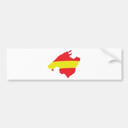 malle flag contour icon bumper sticker