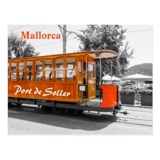 Mallorca Old Tram of Port de Soller Postcard