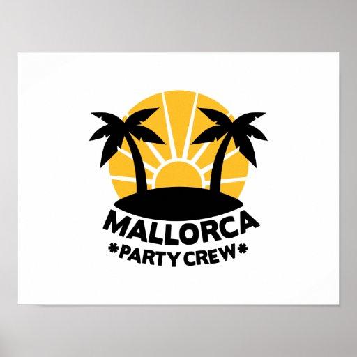 Mallorca Party Crew Poster