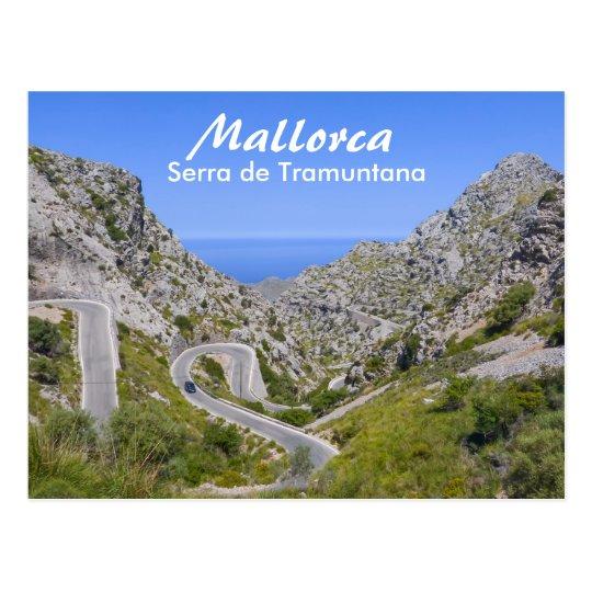 Mallorca Serra de Tramuntana Mountain Road Postcard
