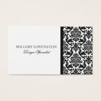 Mallory #3 Chic Black Damask Business Card