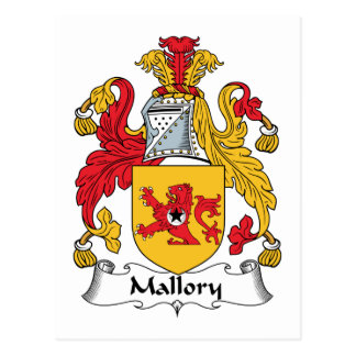 Mallory Family Crest Postcard