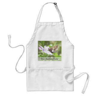 Mallow Flower and Silver-Spotted Skipper Aprons