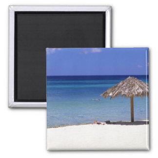 Malmok Beach, Aruba, Netherlands Antilles Square Magnet