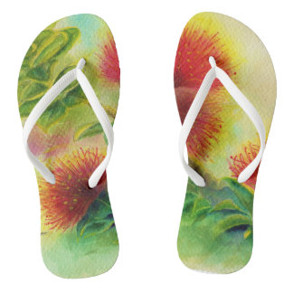 Malorie Arisumi Ohia Lehua flip flops slippers