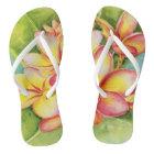 Malorie Arisumi plumeria watercolor slippers Thongs