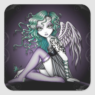 """Malory"" Violet Tattoo Angel Stickers"