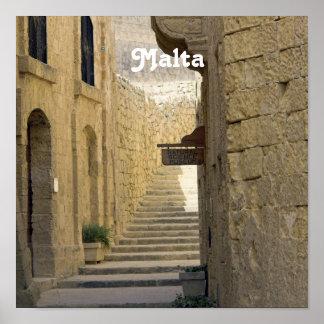 Malta Alleys Poster