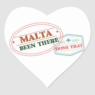 Malta Been There Done That Heart Sticker