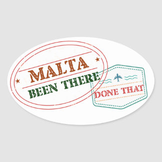 Malta Been There Done That Oval Sticker