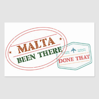 Malta Been There Done That Rectangular Sticker
