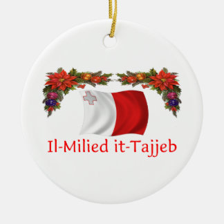 Malta Christmas Ceramic Ornament