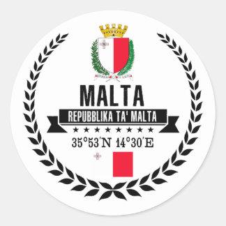 Malta Classic Round Sticker