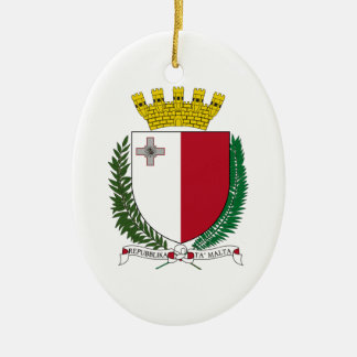 Malta Coat of Arms Ceramic Ornament
