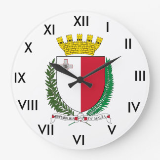 Malta Coat of Arms Clock