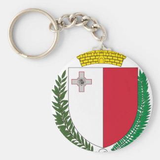Malta coat of arms key ring