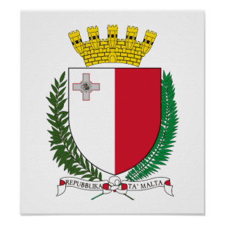 Malta Coat Of Arms Poster