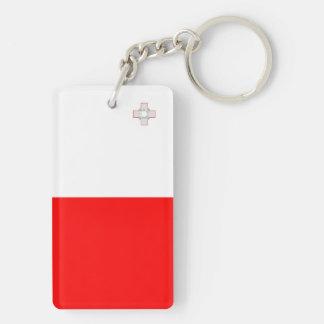Malta country long flag nation symbol republic key ring