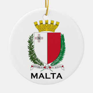 MALTA - emblem/coat of arms/symbol/flag Ceramic Ornament