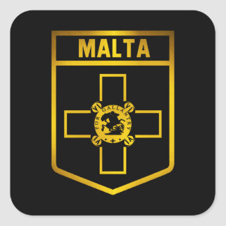 Malta  Emblem Square Sticker