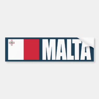 Malta Flag Bumper Sticker