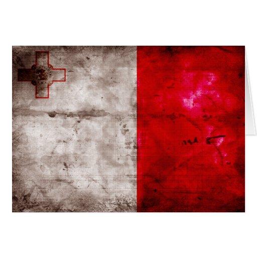 Malta Flag Greeting Cards