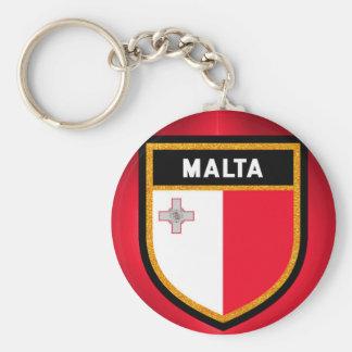 Malta Flag Key Ring
