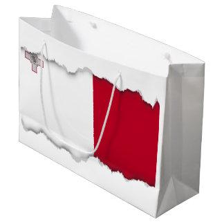 Malta flag large gift bag