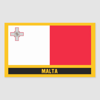 Malta Flag Rectangular Sticker
