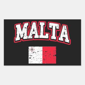 Malta Flag Rectangular Sticker