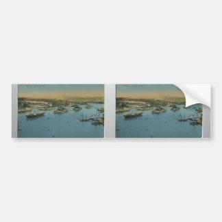 Malta - Grand Harbour Vintage Bumper Stickers